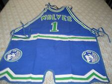 Vintage MINNESOTA TIMBERWOLVES #1  NBA Basketball Jersey Apron NEW