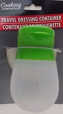 TRAVEL SALAD DRESSING CONTAINER Squeezable Silicone Ketchup Mustard 2 oz 1/Pk, S
