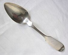 American Antique Spoon Hartford Connecticut 1800s Coin Silver W W Scott