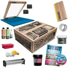DIY PRINT SHOP Classic Table Top T-Shirt Screen Printing Full Supply Kit