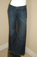 """PAIGE Hollywood Hills Classic Rise Boot Cut Dark Wash Jeans~Size 30~Inseam 33"""""""