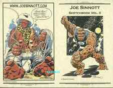 JOE SINNOTT SKETCHBOOK VOLUME 2 COVER PROOF JACK KIRBY ART FF THING