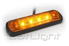 4 Stück LED Seitenmarkierungsleuchten MAN Gelb Seitenleuchte Anhänger 12 24 Volt