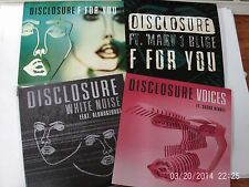 Disclosure - F for you / White noise/Voices/F For You Mary J- 4 x CD Promos