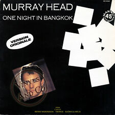 MURRAY HEAD - One Night In Bangkok [5'38] MAXI 45 TOURS France Maxi-Single 12""