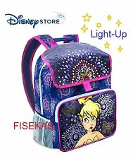 """Disney Store Tinker Bell Light-Up DLX Backpack Tink Bag Tinkerbell 16"""" 2016 NEW"""