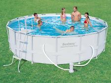 """Bestway """"Steel Pro"""" Frame Pool Schwimmbecken Set Swimmingpool 488x488x122 cm"""