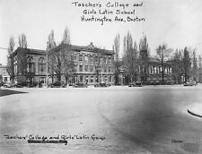 Old Photo.  Boston, MA.  Girls' Latin School & Teachers' College Buildings