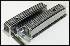 SBC CHEVY 350 383 TALL RETRO STYLE VALVE COVERS ALUMINUM FINNED # 8501-6-VC