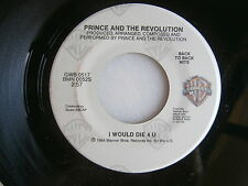 PRINCE ~ I WOULD DIE 4 U / TAKE ME WITH YOU ~ UNPLAYED STORE STOCK ~  FUNK  45 !