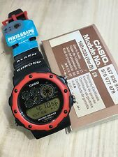 rare vintage casio PGW-30 Red Watch Penta Graph Made In Japan NOS NEW HTF
