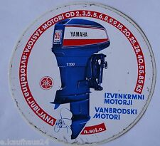 Aufkleber YAMAHA OUTBOARDS Slowenien Außenborder Bootsmotoren 80er Sticker