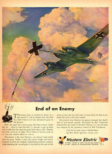 1944 WW2 AD, WESTERN ELECTRIC Gun Director, Art FW 187 by Anton Fischerr 082214