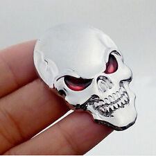 Cool Car Motor Bike Metal Emblem Badge Decals 3D Skull Bone Sticker