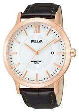 PAR184X1 NEW Pulsar Mens Gents Kinetic Date Display Leather Strap Watch