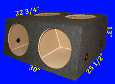 "4 FOUR HOLE 12"" CHAMBERED GREY SUBWOOFER SUB SPEAKER ENCLOSURE BOX"