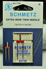 Schmetz Sewing Machine Extra Wide Twin Needle 1734