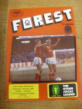 10/04/1985 Nottingham Forest v Chelsea  (Creased, Worn). Unless previously liste