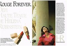 Publicité Advertising 1991 (2 pages) Cosmétique maquillage Helena Rubinstein