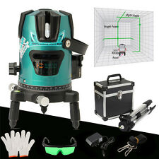 Slash 520nm Diagona Rotary Laser Line Beam Leveling Level Meter Tripod Kit Green
