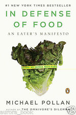 In Defense of Food An Eater's Manifesto Paperback by Michael Pollan 2009 WT63609