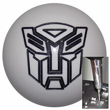 Transformer Autobot White Black shift knob for Dodge Chrys auto stk w/ adapter