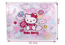 Hello Kitty A4 Office Student School Notes Check Files Bag Case Organizer Folder