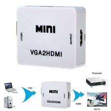 1080P Audio VGA To HDMI HD HDTV Video Converter Box Adapter For Laptop DVD ADC