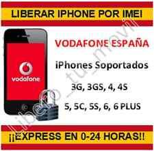 Expres! Liberar iPHONE Vodafone España 3G 3GS 4 4S 5 5C 5S 6 6+ por imei FAST!!
