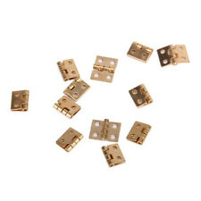 12pcs Mini Metal Hinge with Screws for 1/12 Dollhouse Miniature Furniture
