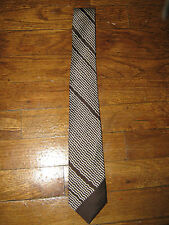 Vintage Jim Thompson brown/cream squiggle stripe design tie