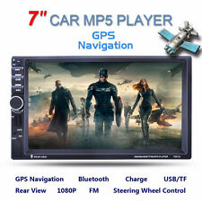 "7"" 2 Din In-dash Bluetooth Car Stereo MP3 Audio Radio Player GPS Navigation AUX"