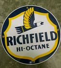 RICHFIELD round Oil Gas Porcelain Advertising sign