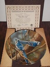 """""""The Blue Jay"""" #7957M Knowles Collector Plate Hand Painted by Kevin Daniel 1985"""