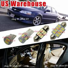 10-pc Bright White Interior LED Lights Package Combo Kit for Acura TL 1999-2003