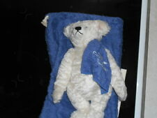 "RARE STEIFF TEDDY BEAR,""OCEAN BEAR, TOWEL AND BAG"" L/E No850,30cm,OWNED FROM NEW"