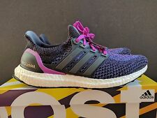 "Adidas Ultra Boost 2.0 ""Shock Purple"" Running Shoes Womens Sz 9.5 Mens 8 8.5"