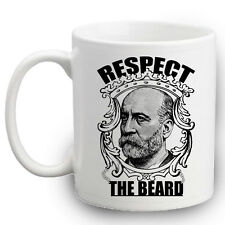 Respect The Beard Mug   Funny Moustache Gifts   Novelty   Beards   Mens Gift