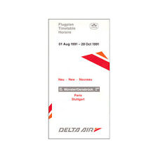 Delta Air - Airlines Emploi du temps - 01 Août pour 28 Octobre 1991