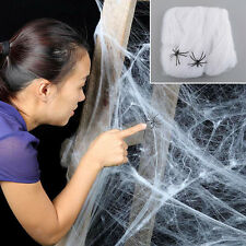 Outdoor Haunted House Halloween Party Decoration Prop Cobwebs Spider Web Decor