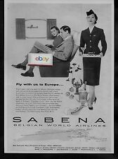 SABENA BELGIAN WORLD AIRLINES F/A ON SUPER DC-6 TO BRUSSELS AD