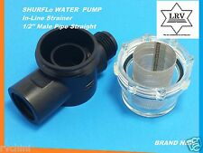 "RV AND MARINE WATER PUMP IN-LINE STRAINER FILTER SHURFLO 255-313 1/2"" MALE PIPE"