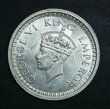 BRITISH INDIA-SILVER-GEORGE VI KING EMPEROR-ONE RUPEE-YEAR 1945-WT:-11.560 GRAM.