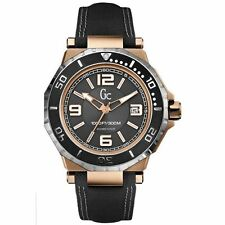 BRAND NEW GC GUESS COLLECTION X79002G2S AQUASPORT BLACK & ROSE GOLD MEN'S WATCH