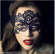 Masque Dentelle Noir Femme Libertin Carnaval Erotique Venise glamour vampire