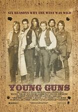 """wild west vintage YOUNG GUNS Movie Silk Poster 11""""x17"""" kiefer SUTHERLAND"""