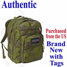 Jansport BIG STUDENT CLASSIC Backpack GREEN MACHINE Travel School Bag Superbreak