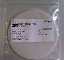 3M LAPPING FILM FINAL POLISH FIBER OPTIC CONNECTORS 4XNH 863XW SILICA 50 DISCS