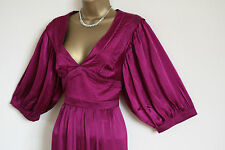 ᴥᴥBNWT MONSOON SZ 10 HELENA CHRISTENSEN PURPLE SILK MAXI DRESS GOWN 70'S PARTYᴥᴥ