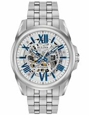 Bulova 96A187 Mens Automatic Skeleton Dial Stainless Steel 43mm Case Watch